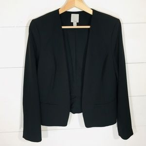 Halogen Jackets & Coats - HALOGEN Open Front Black Blazer Jacket MEDIUM EUC